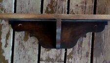 Farmhouse Salvaged shelf Dark Wood Primitive Mantel Clock? Shabby Flea Market