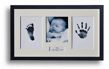 Personalised Baby Hand Footprint Photo White Frame Kit Baby Shower or Xmas Gift