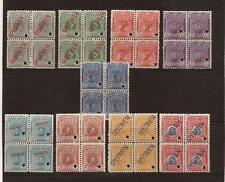PERU-Magnificent 'specimen' blocks of famous people set (Scott #177-185) All MNH