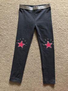 BNWT Little kids Girl leggings bottom 4 5 years blue glitter sparkling