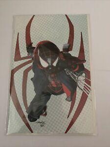 Miles Morales Spider-Man #25 Mike Mayhew Drip Hoodie Virgin Variant Cover Marvel