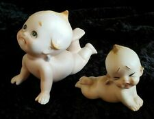 Kato Kogei Kewpie doll porcelain set of 2 babies crawling crying sad collectible