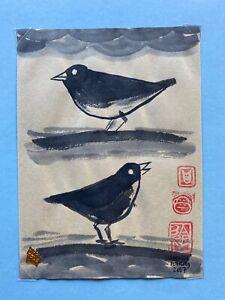 Lynda Barry Illustration Signed Original Art 2007 - Birds