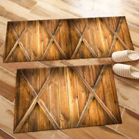 Brown Old Wood Board Kitchen Mat Bedroom Floor Area Rugs Home Decor Soft Carpet