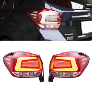Fit Subaru XV Crosstrek Impreza Wagon LED Tail Light Sport Rear Clear Red 12-17