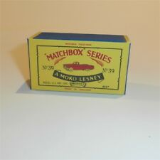 Matchbox Lesney 39 a Ford Zodiac Convertible empty Repro B style Box