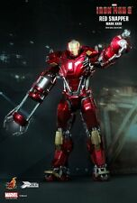 "Sideshow Hot Toys 12"" 1/6 Iron Man Mark XXXV Red Snapper Figure"