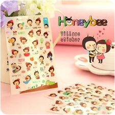 CLEARANCE Cute Cartoon Korea Honey Bee Girl Stickers Scrapbooking Diary Decor