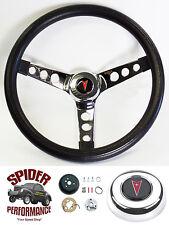 "1969-1992 Firebird GTO Trans Am steering wheel PONTIAC 13 1/2"" CLASSIC CHROME"