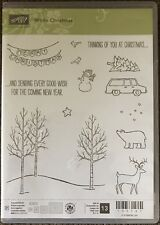 Stampin Up White Christmas Clear Acrylic Rubber Stamps