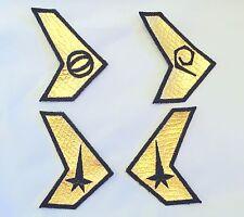 Star Trek Enterprise Uniform Insignia Patches - Set of 4 USS Defiant TOS Style