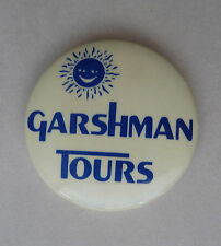 GARSHMAN TOURS Travel Agent  Calgary Alberta Lapel Hat Pin Souvenir Button