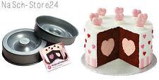 Wilton Backform mit Herz Füllung rund Heart Tasty-Fill Cake Pan Set Torte Kuchen