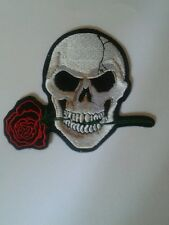 Toppe Patch Ricamata Termoadesiva Harley bikers skull 10,8x9,8
