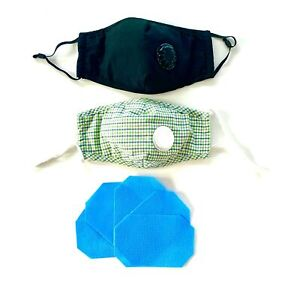 Mund & Nasenmaske waschbar Atemmaske 4-lagig Ventil & Filter Alltagsmaske PM2.5
