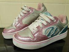 Heelys Motion Plus Pink Glitter Girls Wheeled roller shoes UK 5