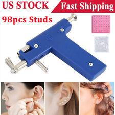 Professional Ear Nose Navel Body PIERCING GUN Tool Kit set jewelry 98 studs USA