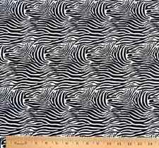 Timeless Treasures Black White Zebra 100% cotton fabric by the yard