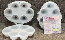 2 Jell-O Jello Jigglers Egg Molds with recipes
