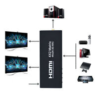 4X2 HDMI Matrix 4 In 2 Out Switch Splitter Remote Control 4K 2K Support ARC 3D