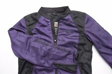 Women's Small Harley Davidson Motorcycle Mesh Purple Embroidered Riding Coat
