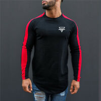 Men's Sport Wear Long Sleeves Training Printing Logo Compression Shirts Clothes