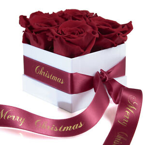 Merry Christmas Weihnachtsgeschenk Blumenbox konservierte Rosen Rosenbox Frauen