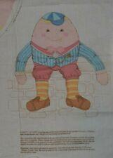 Fabric panel, humpty dumpty doll