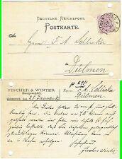 DR PK Firma Fischer & Winter Lüdenscheid n. Dülmen F. A. Schlieker 1887