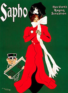 Old Vintage Theatre Poster Sapho - Fade Resistant HD Print or Canvas