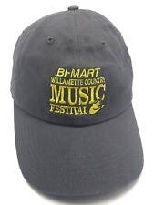 BI-MART WILLAMETTE COUNTRY MUSIC FESTIVAL (OR) gray adjustable cap / hat