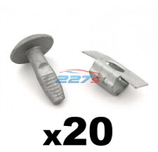 Citroen Metal Engine Undertray Fasteners / Shield Clips- 20x Bolts & 20x Clasps