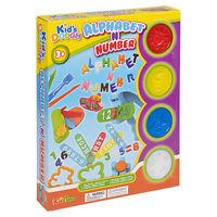 23pc Play Dough Kids Tubs Alphabet ABC Number Press Cutter Shaper Children Xmas