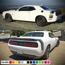 Decal Sticker Rear Trunk Stripes for Dodge Challenger SRT RT Light Lip Racing