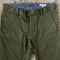 Gustin 32 Straight Fit Green Washed Chinos Pants Made in USA Cotton 32x30