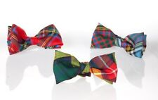 GENTS BOW TIE IN MELVILLE ANCIENT TARTAN WORSTED WOOL MADE IN SCOTLAND KILTS NEW