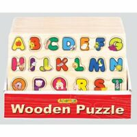 Wooden Alphabet ABC Puzzle Board - (Educational Toys)