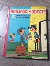 bonjour Modeste 60 mésaventures de modeste et pompon EO 1959 côte BDM 250e