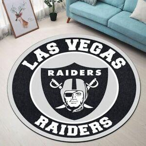 Las Vegas Raiders Fluffy Area Rug Round Rug Bathroom Floor Mat Bedroom Door Mat