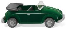 Wiking 080208 VW Coccinelle Cabriolet Ouverte Vert Métallique Ho 1:87 Neuf