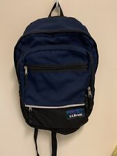 LLBean Vintage Backpack, Navy Blue, Discontinued, Large