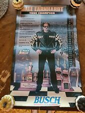 "Dale Earnhardt 1996 NASCAR True Champion Busch Beer Brand 26"" by 16"" Poster"