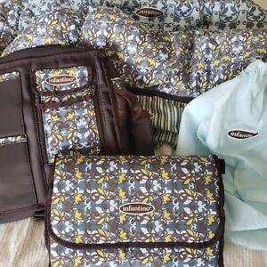 Infantino Shopping Cart Cover Diaper Bag Changing Pad Set