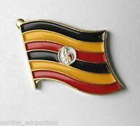 UGANDA NATIONAL COUNTRY WORLD FLAG LAPEL PIN BADGE 3/4 INCH