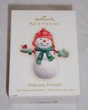 Hallmark Ornament Welcome Friends! Snowman, dated 2007, MINT