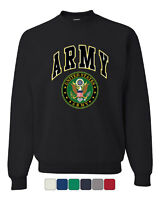 United States Army Crew Neck Sweatshirt Army Crest Patriotic