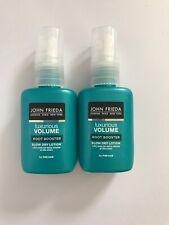 2 X John Frieda Luxurious Volume Root Booster Blow Dry Lotion Spray 25ml