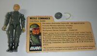 1982 GI Joe Missile Commander Hawk Straight Arm v1 Figure Complete w/ File Card