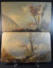Pair of Hudson River School Style Paintings