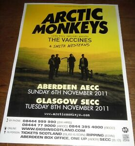 Arctic Monkeys - live music show Nov 2011 promotional tour concert gig poster